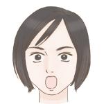 智子ー驚き顔アイコン