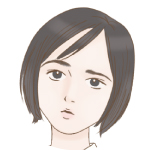 智子ー真剣真顔アイコン